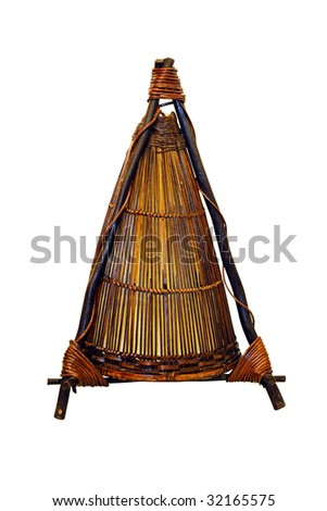 Indian style lamp isolated included clipping path - stock photo