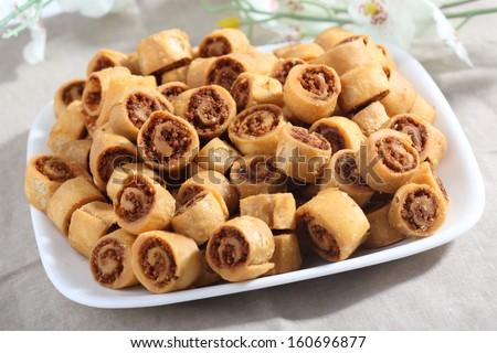 Indian sweet (bhakarwadi) - stock photo