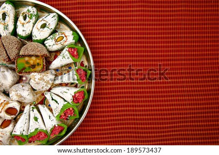 Indian sweets (mithai) - stock photo