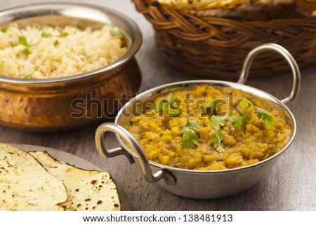 Indian traditional food dal - stock photo