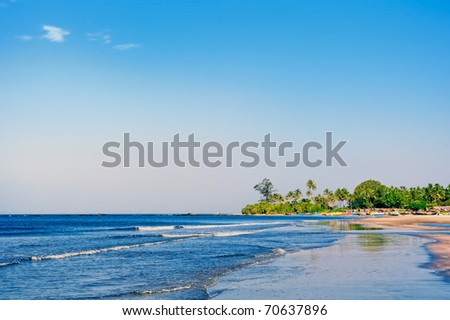 Indian tropical coast during the sunny day - stock photo