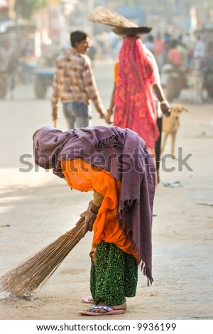 Indian woman, Rajasthan. - stock photo