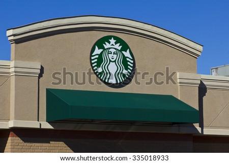 Indianapolis - Circa November 2015: Starbucks Retail Coffee Store. Starbucks is an American Retail Coffee Chain III - stock photo