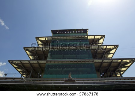 INDIANAPOLIS, IN - JULY 23, 2010:  The Indianapolis Motor Speedway plays host to the Brickyard 400 race on July 23, 2010 in Indianapolis, IN. - stock photo