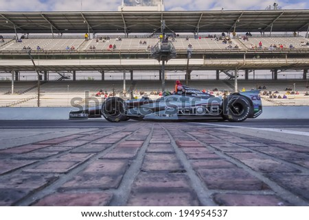 indianapolis, IN - May 17, 2014:  Kurt Busch (26) prepares the Suretone Honda to qualify for the Indianapolis 500 at Indianapolis Motor Speedway in indianapolis, IN. - stock photo