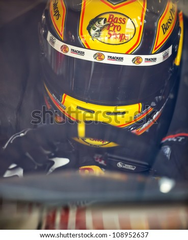 INDIANPOLIS, IN - JUL 28, 2012:  Jamie McMurray (1) and crew prepare their car for a practice session for the Curtiss Shaver 400 at the Indianapolis Motor Speedway in Indianapolis, IN on Jul 28, 2012. - stock photo
