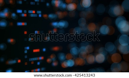 Indicator panel. Shallow DOF. Abstract 3D rendering background