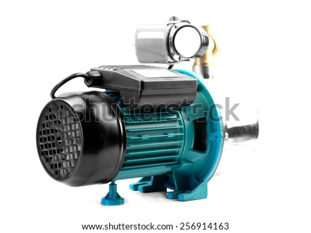 individual pumping station for the home - stock photo