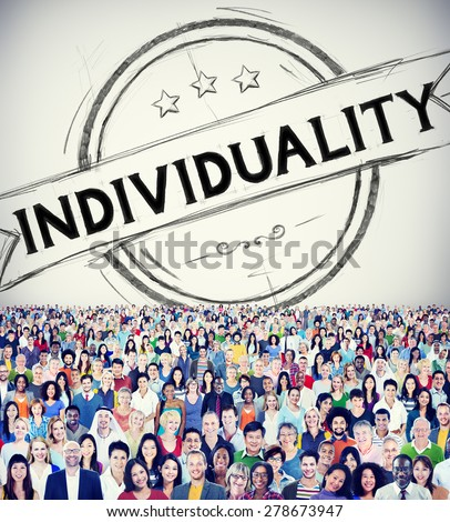 Individuality Character Different Independence Person Concept - stock photo