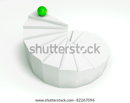 individuality 3d, steps - stock photo