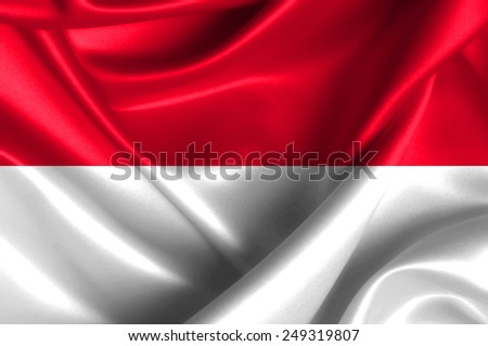 Indonesia waving flag - stock photo