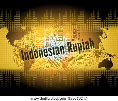 Indonesian Rupiah Indicating Foreign Exchange And Idr  - stock photo