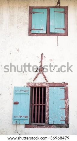 Indonesian windows - stock photo