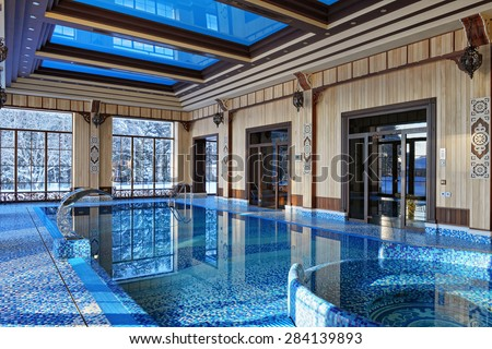 indoor pool - stock photo