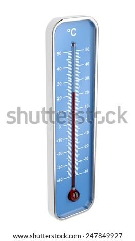 Indoor thermometer isolated on white background - stock photo