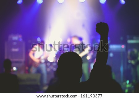 Indoors Concert Live. - stock photo