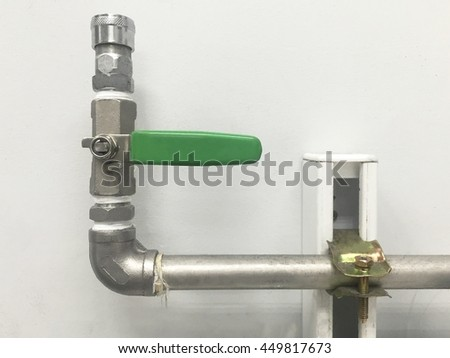 Industrial air pipe and tube. - stock photo
