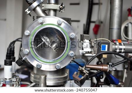 industrial background detail engine machine round piece - stock photo