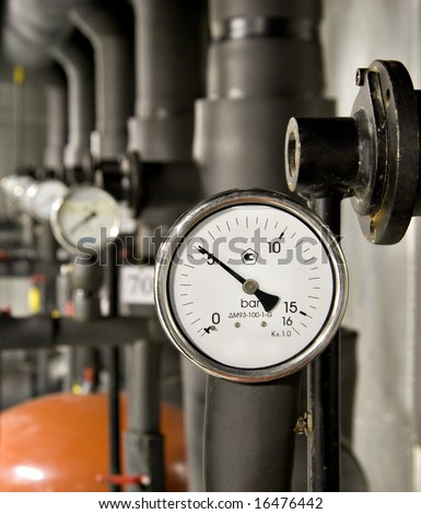 Industrial barometer - stock photo