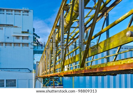 Industrial Building with passage to it. - stock photo