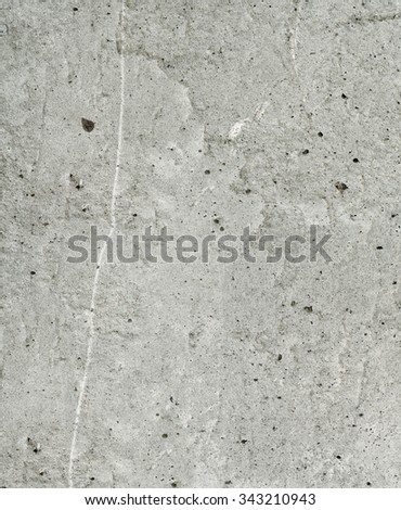 Industrial construction textured background: old gray scratched weathered stained textured concrete wall - stock photo