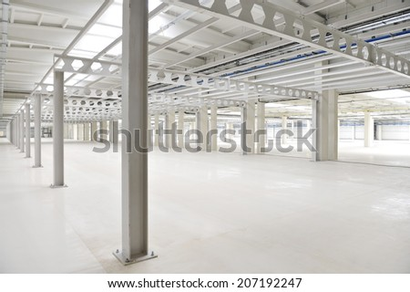 Industrial detail with an empty storage depot - stock photo