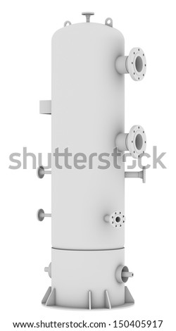Industrial equipment. Isolated render on a white background - stock photo