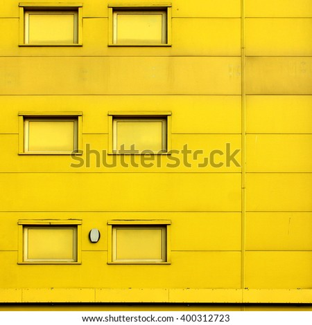 Industrial estate warehouse architecture. Steel built buildings and constructions - stock photo
