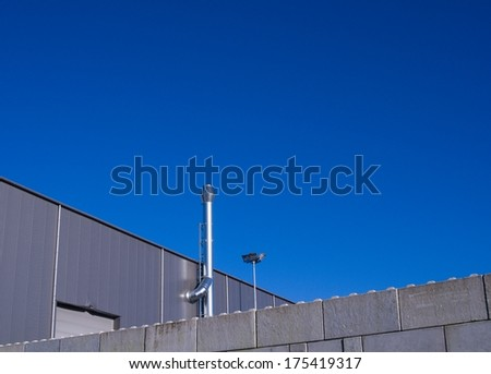 Industrial Facade - stock photo