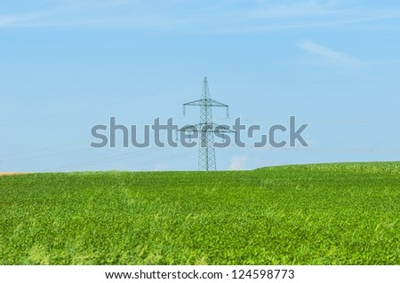 Industrial farmland before harvest in vibrant color - stock photo