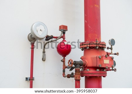 Industrial fire protection system. - stock photo