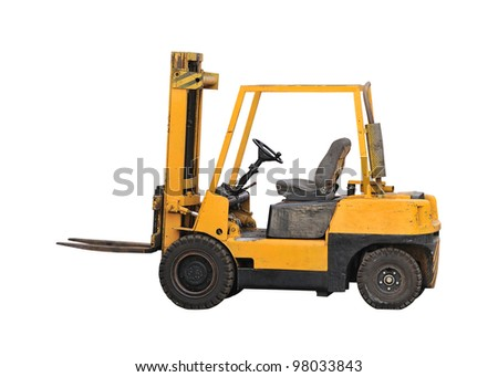 industrial fork lift truck - stock photo