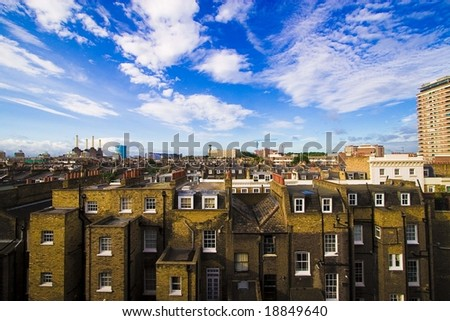 industrial house quarter - stock photo