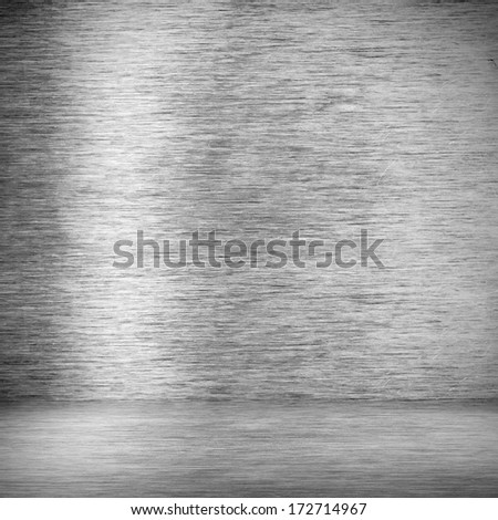 Industrial interior from metal plates - stock photo