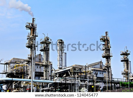 industrial landscape - stock photo