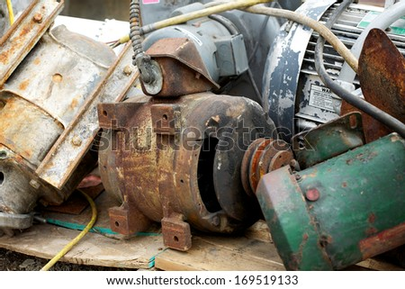 industrial leftovers - stock photo