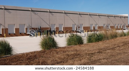 Industrial Loading docks - stock photo