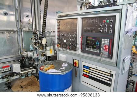 Industrial machine, computer navigate machine - stock photo