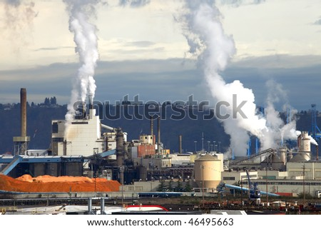 Industrial manufacturing. - stock photo