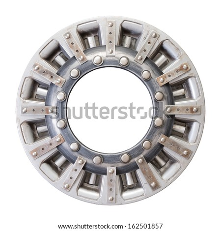 Industrial metal alphabet letter O - stock photo