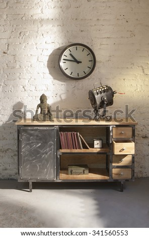 industrial metalic cabinet - stock photo