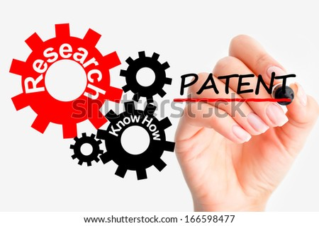 Industrial patent concept - stock photo