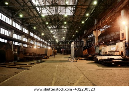 industrial plant, factory, machine, room service, - stock photo