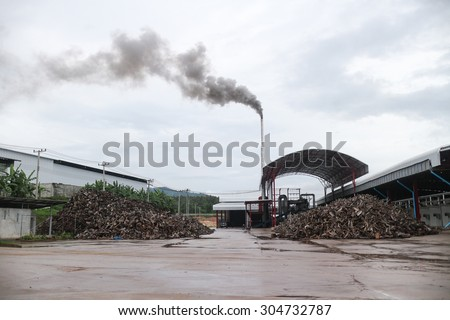 Industrial plant  factory with smoking chimneys - stock photo