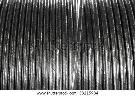 Industrial power electric cable, background. - stock photo