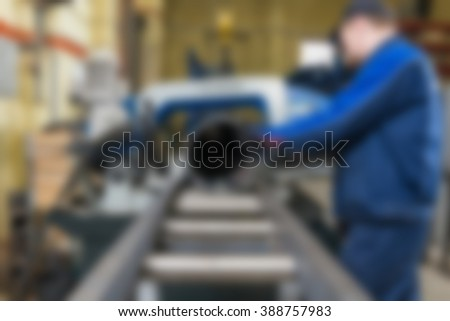 Industrial production factory theme blur background - stock photo