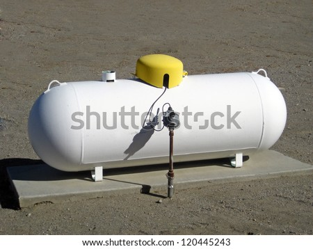 Industrial propane tank - stock photo