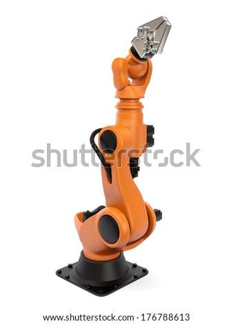Industrial robot - stock photo