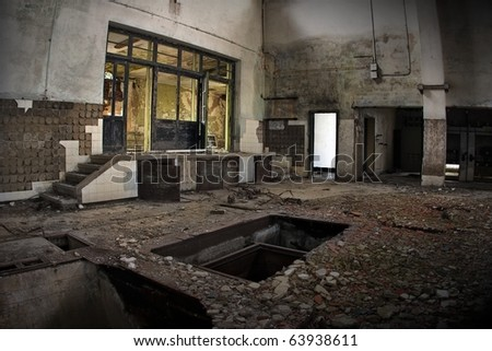 Industrial Ruins - stock photo
