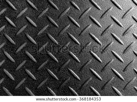 Industrial shiny metal with rhombus shapes in black color - stock photo